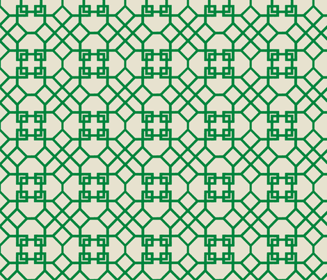 Lattice- Kelly Green fabric by melberry on Spoonflower - custom fabric