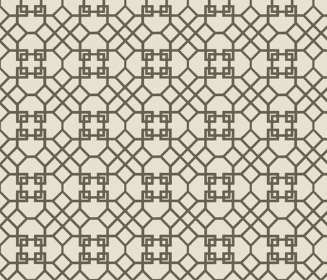 Lattice- Taupe fabric by melberry on Spoonflower - custom fabric