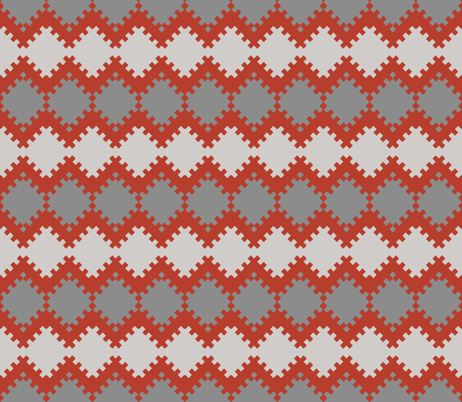 8bit Crochet fabric by ilikemeat on Spoonflower - custom fabric