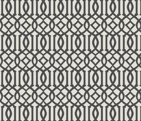 Imperial Trellis-Dark Gray-reverse fabric by melberry on Spoonflower - custom fabric