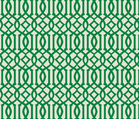 Imperial Trellis-Green-reverse fabric by melberry on Spoonflower - custom fabric