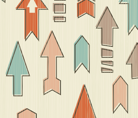 arrows fabric by anastasiia-ku on Spoonflower - custom fabric