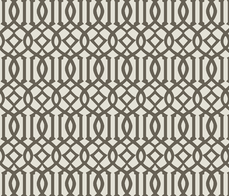 Imperial Trellis-Taupe-reverse fabric by melberry on Spoonflower - custom fabric