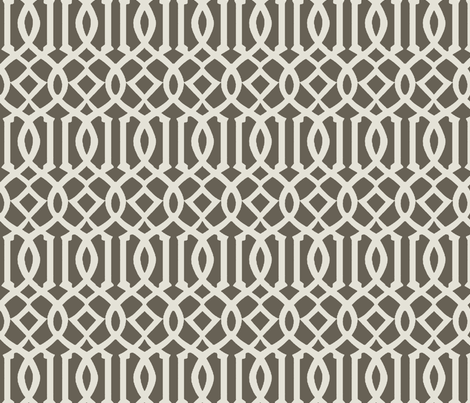 Imperial Trellis-Taupe fabric by melberry on Spoonflower - custom fabric