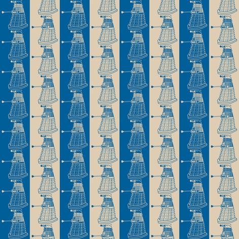 Dalek Stripes fabric by risarocksit on Spoonflower - custom fabric