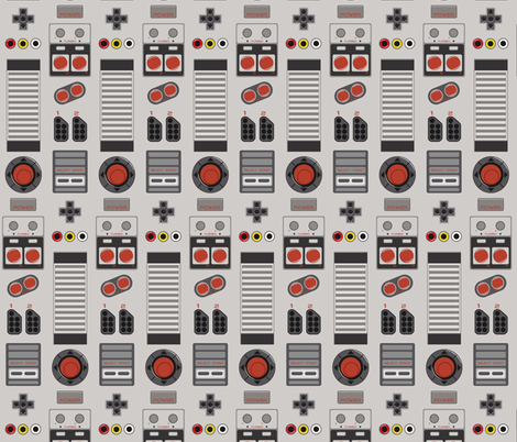 8bit Columns fabric by ilikemeat on Spoonflower - custom fabric