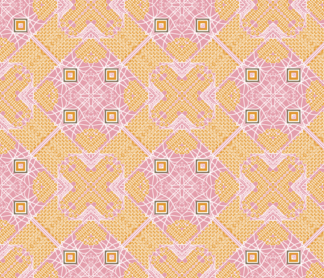 mojave desert pink fabric by the_quiet_studio on Spoonflower - custom fabric