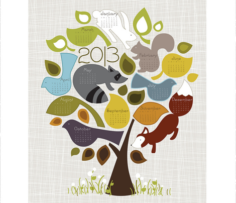 Seasons- 2015 Tea Towel Calendar
