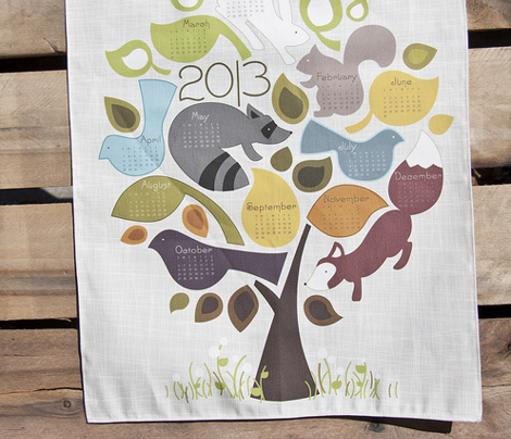 Seasons- 2013 Tea Towel Calendar