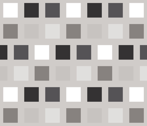 Pixel Perfect Monotone fabric by ilikemeat on Spoonflower - custom fabric