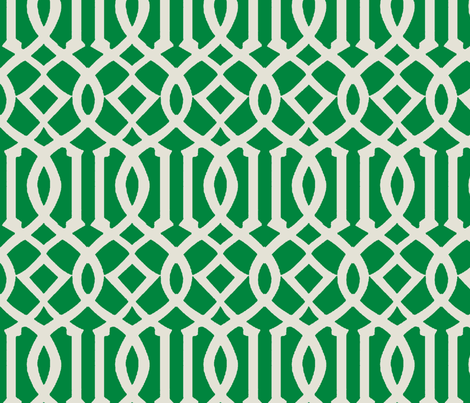 Imperial Trellis-Kelly Green-Large fabric by melberry on Spoonflower - custom fabric