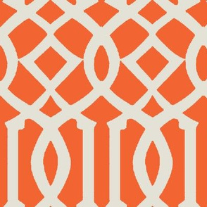 Imperial Trellis-Orange-Large