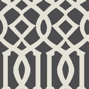 Imperial Trellis-Dark Gray-Large