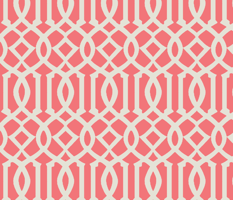 Imperial Trellis-Pink-Large fabric by melberry on Spoonflower - custom fabric