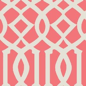 Imperial Trellis-Pink-Large