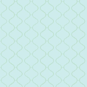 Moorish Tile Trellis Blue and Green