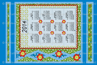 Flood_of_Flowers__Layered_Applique_Calendar_2014 S