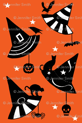 Halloween Hats - orange