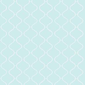 Moorish Tile Trellis Blue and White
