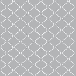 Moorish Tile Trellis Gray and White