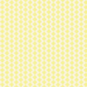 Quatrefoil Mini Print Yellow and White
