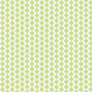 Quatrefoil Mini Print Celery and White