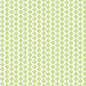 Quatrefoil Mini Print Celery and White