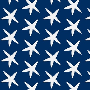 Starfish Navy and White