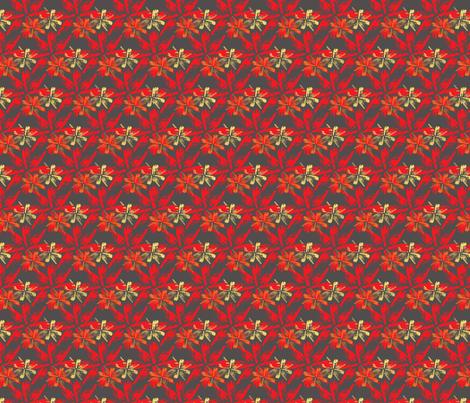Arrowhead -Red fabric by 3o'clockbadger on Spoonflower - custom fabric