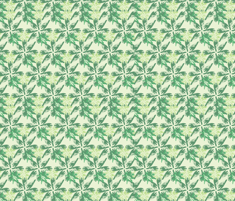 Arrowhead - Green fabric by 3o'clockbadger on Spoonflower - custom fabric