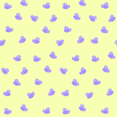 Pastel Bumblebees fabric by bumblebeedc on Spoonflower - custom fabric