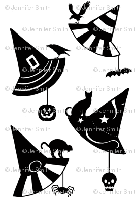 Halloween Hats - white/black
