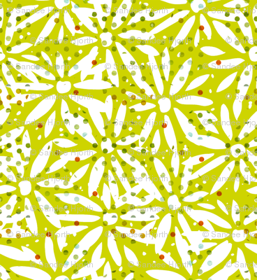 Kiwi cutout daisy