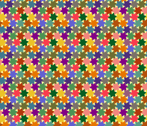 Stars - Purple, Pink, Green, Yellow, Blue, Brown and Orange on Light / White Background fabric by zephyrus_books on Spoonflower - custom fabric