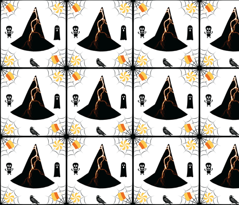 Lightning Hat & Bird fabric by painter13 on Spoonflower - custom fabric