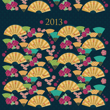 2013 Oriental fans fabric by kirpa on Spoonflower - custom fabric