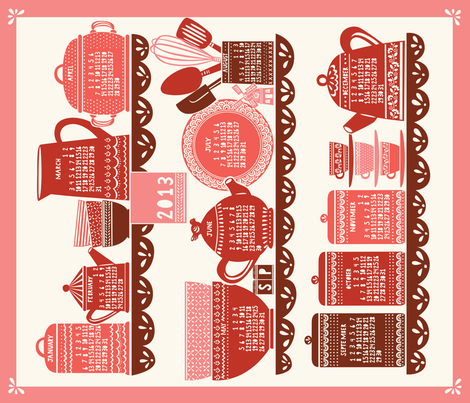 Home_RED fabric by stacyiesthsu on Spoonflower - custom fabric