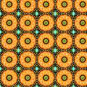 Teeny orange circles