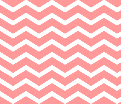chevron-coral fabric by luluhoo on Spoonflower - custom fabric