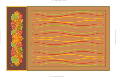 Falling Leaves Tea Towel fabric by jjtrends on Spoonflower - custom fabric