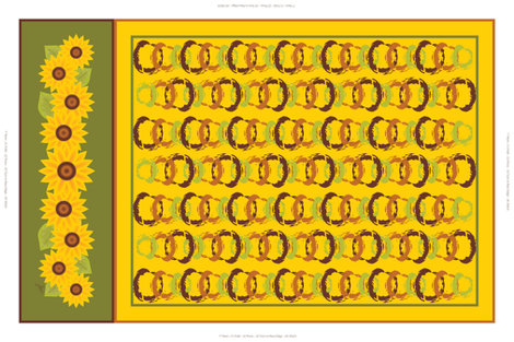 Golden Sunflowers Tea Towel fabric by jjtrends on Spoonflower - custom fabric