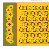 Golden Sunflowers Tea Towel