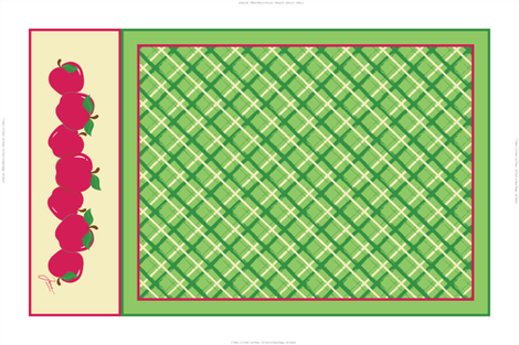 Red Apples Tea Towel fabric by jjtrends on Spoonflower - custom fabric