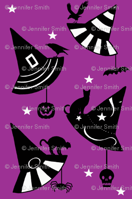Halloween Hats & Stars - purple