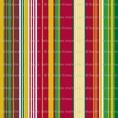 Circus Wagon Xmas: Stripes with White