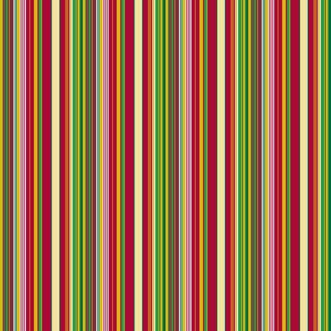 Circus Wagon Xmas: Stripes with White fabric by tallulahdahling on Spoonflower - custom fabric