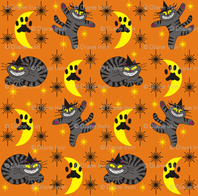 Magical Mr. Midnight in Charcoal & Pumpkin