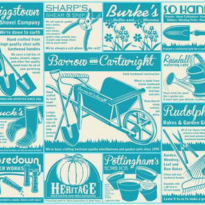 Gardening Tools Advertising ~ Deep Turquoise