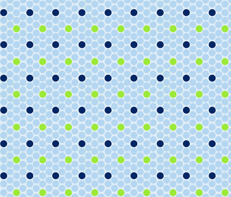alli_dots_blue fabric by olioh on Spoonflower - custom fabric