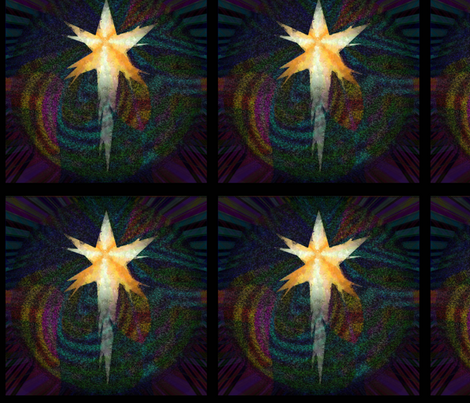 Star over Bethlehem - Framed in Black fabric by wren_leyland on Spoonflower - custom fabric